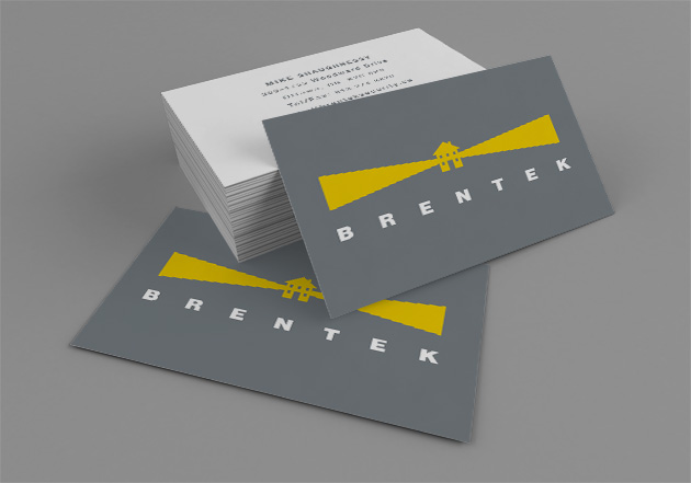 Brentek Business Cards by Ottawa Graphic Designer idApostle