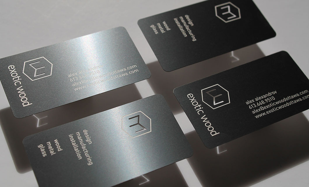 Metal Business Cards for Ottawa s Exotic Wood • idApostle